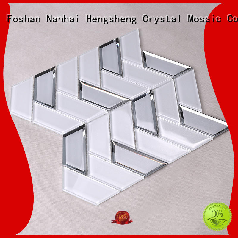 Heng Xing Brand resin home glass glass mosaic tile manufacture