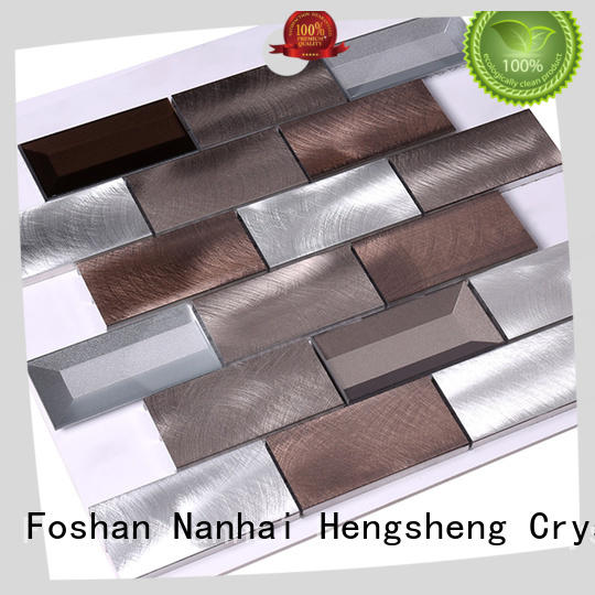 Heng Xing 2x2 metal mosaic tile customized for bathroom