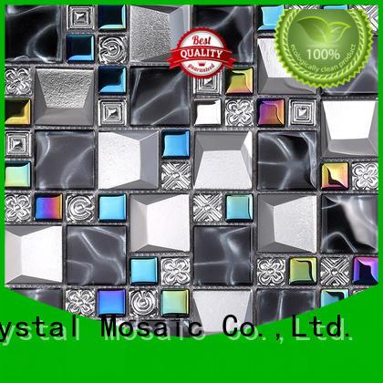 Heng Xing pattern metallic glass tile factory price for villa