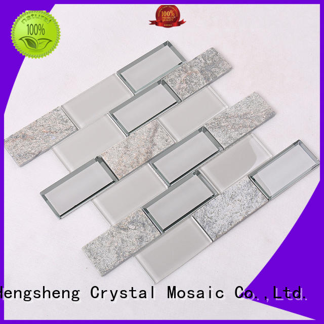 stone 3d mosaic tile for kitchen Heng Xing