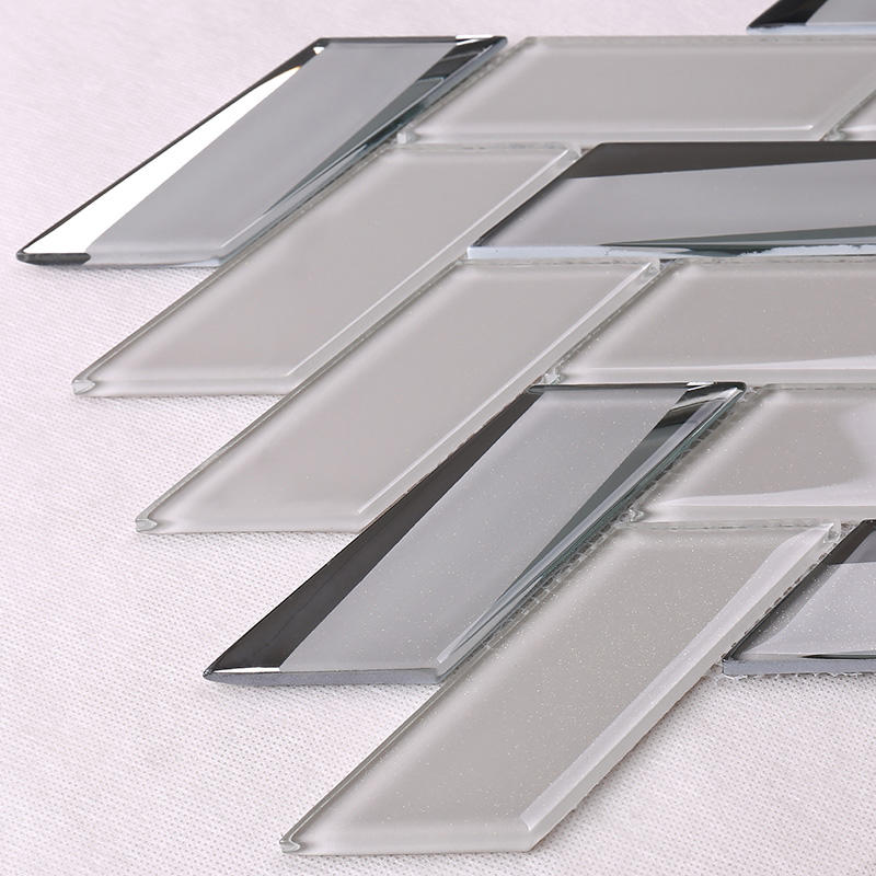 Heng Xing beveled clear glass tiles decor for living room-3