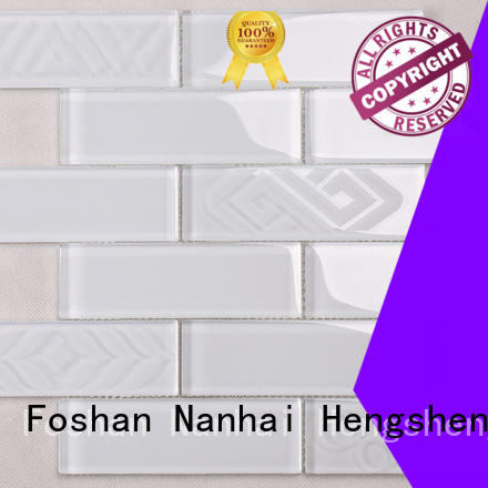 Heng Xing beveled glass mosaic tile wholesale for bathroom