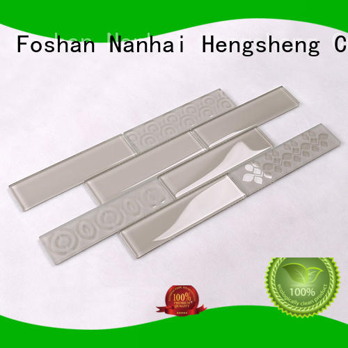 kitchen mosaic metal backsplash glass mosaic tile Heng Xing