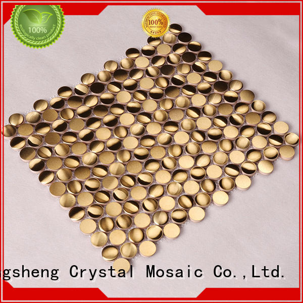 Hengsheng Brand copper outdoor beveled metal mosaic