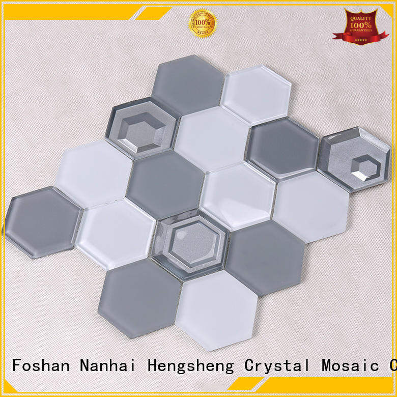 3x4 metallic glass mosaic tile design for kitchen