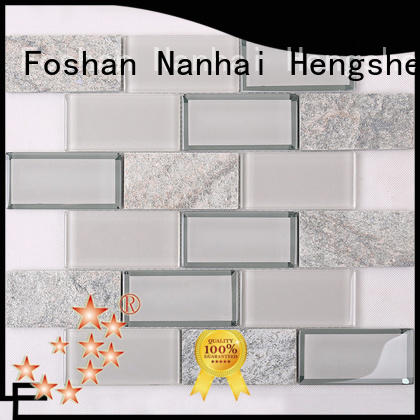 Heng Xing 3x4 glass wall tiles wholesale for living room