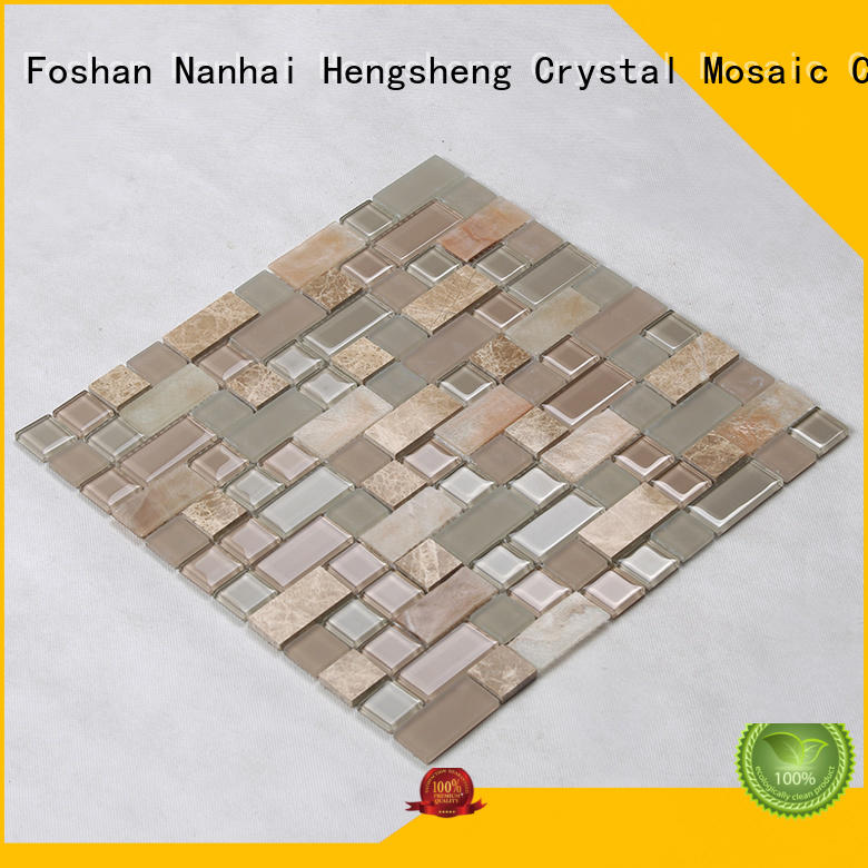 Quality Heng Xing Brand glass tiles for kitchen white