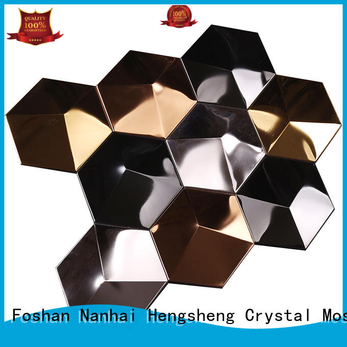 Hengsheng Brand tile preminum metallic kitchen wall tiles steel