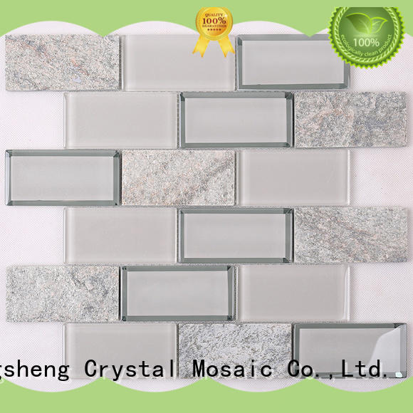 Heng Xing square glass subway tile personalized for hotel