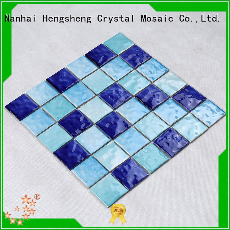 deck swimming pool mosaic tiles design for bathroom Heng Xing