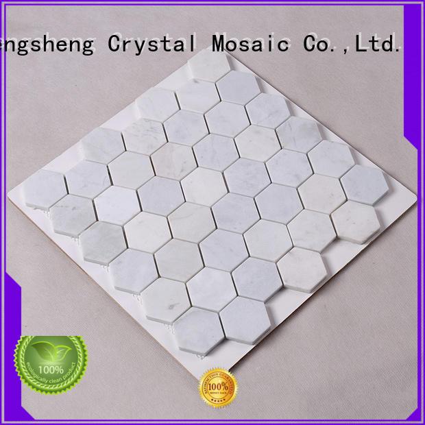 Hengsheng Brand stone floor stone tile backsplash hexagon