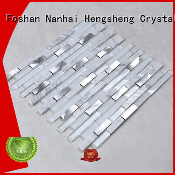 Heng Xing aluminum red glass tile supplier for kitchen
