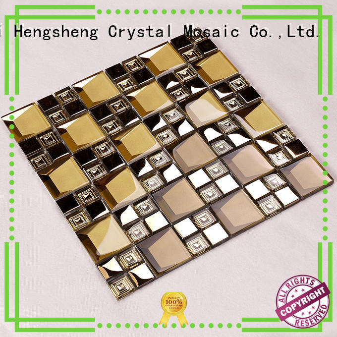 glass tiles for kitchen herringbone cold glass mosaic tile Heng Xing Brand