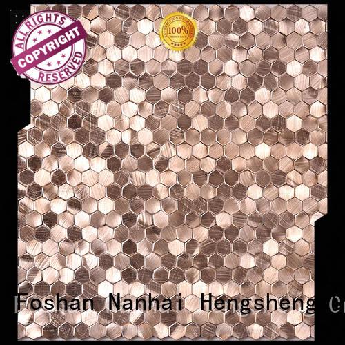professional metallic subway tile backsplash customized for living room Heng Xing