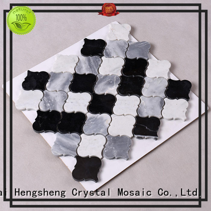 stone tile backsplash tile 3x3 hexagon Hengsheng Brand stone mosaic