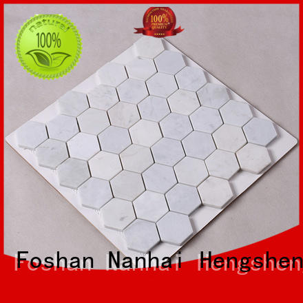 stone hexagon marble tile supplier for kitchen Heng Xing