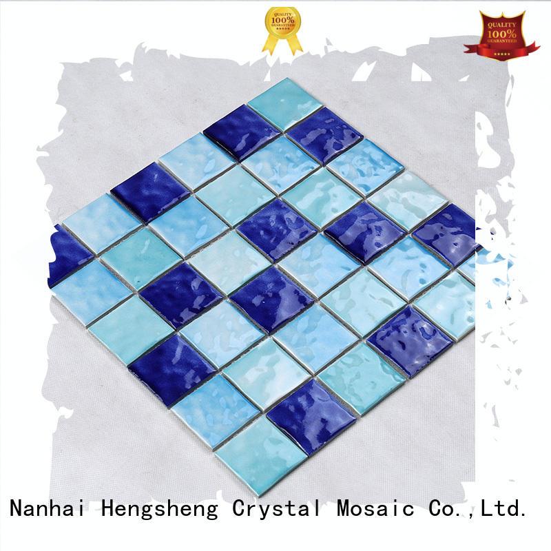 tans crystal 2x2 swimming pool mosaics Hengsheng Brand