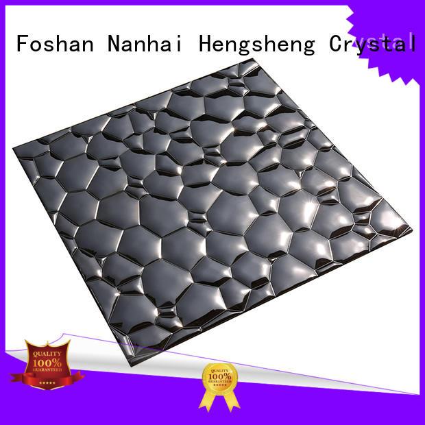 Heng Xing Brand water diamond 2x2 alloy metal mosaic