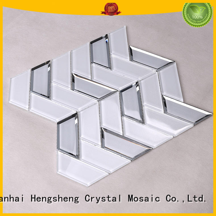 sand glass glass tiles for kitchen Heng Xing Brand