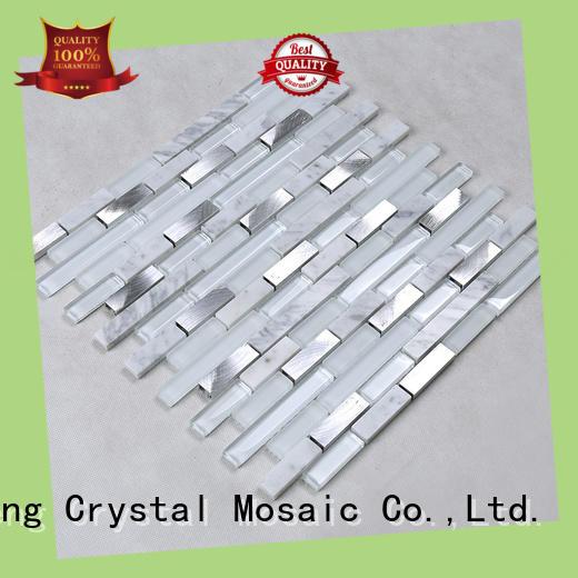 Heng Xing beveled black glass tile backsplash grey for hotel