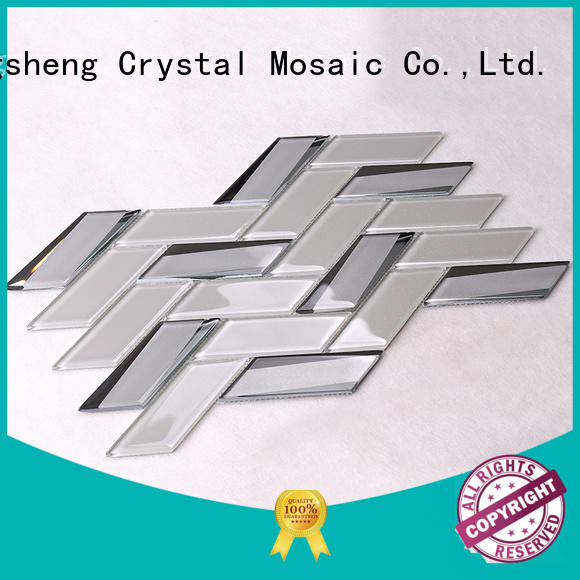 Heng Xing square glass metal tile tans for kitchen