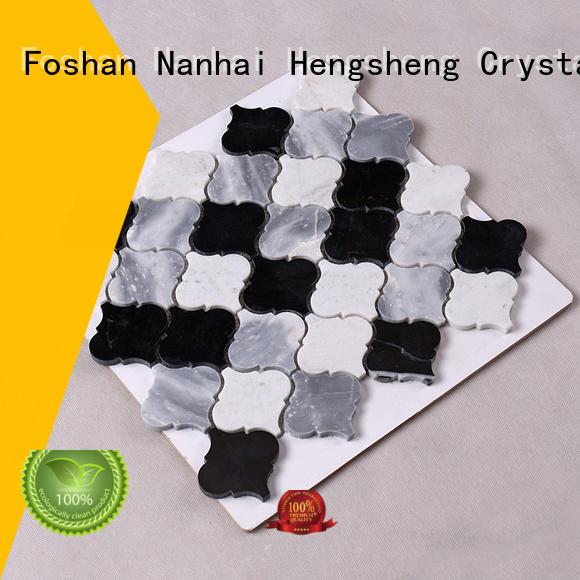 flower stone mosaic gray beautiful Hengsheng company