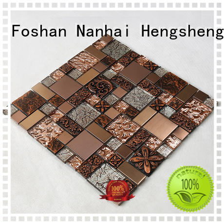 glass tiles for kitchen cold electroplated backsplash Heng Xing Brand company