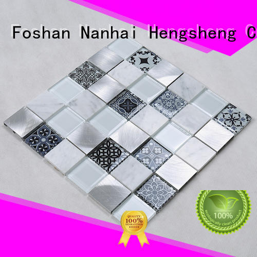 glass tiles for kitchen mosaic stone Heng Xing Brand company