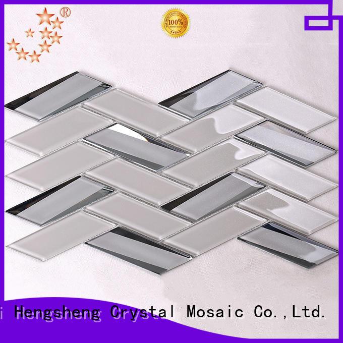 crystal bevel tile subway for bathroom Heng Xing