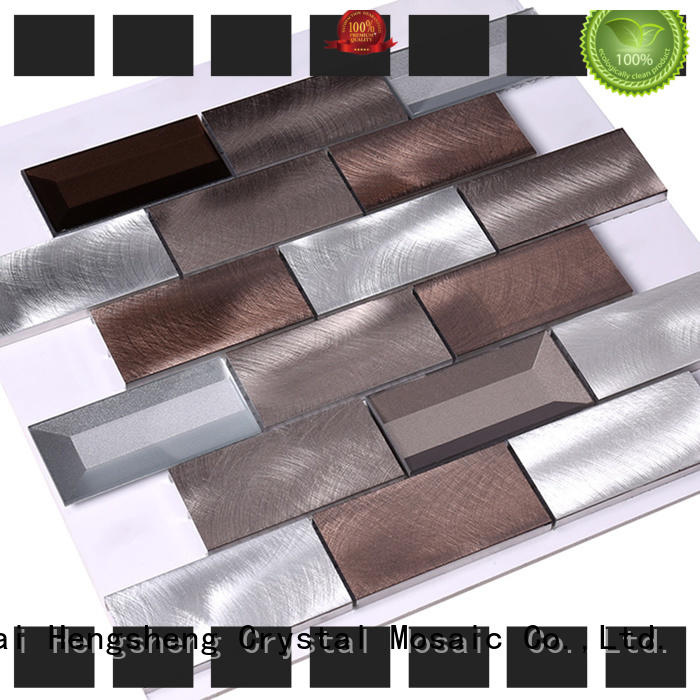 certificated metal mosaic tile in shower series for villa