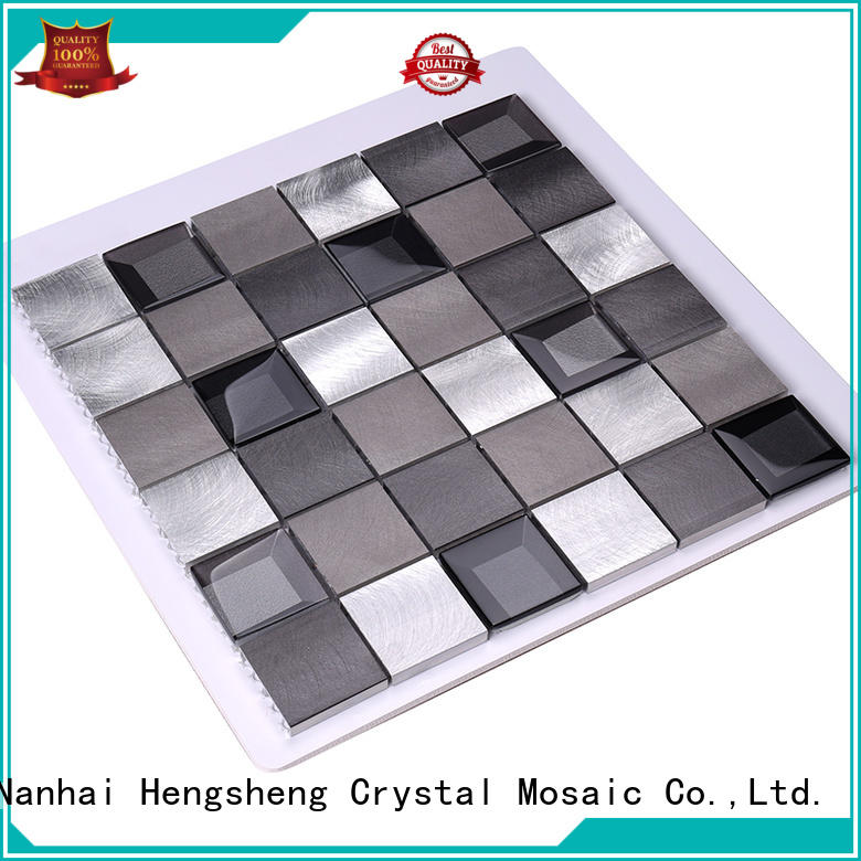 tile luxury hexagon metal mosaic Hengsheng Brand company