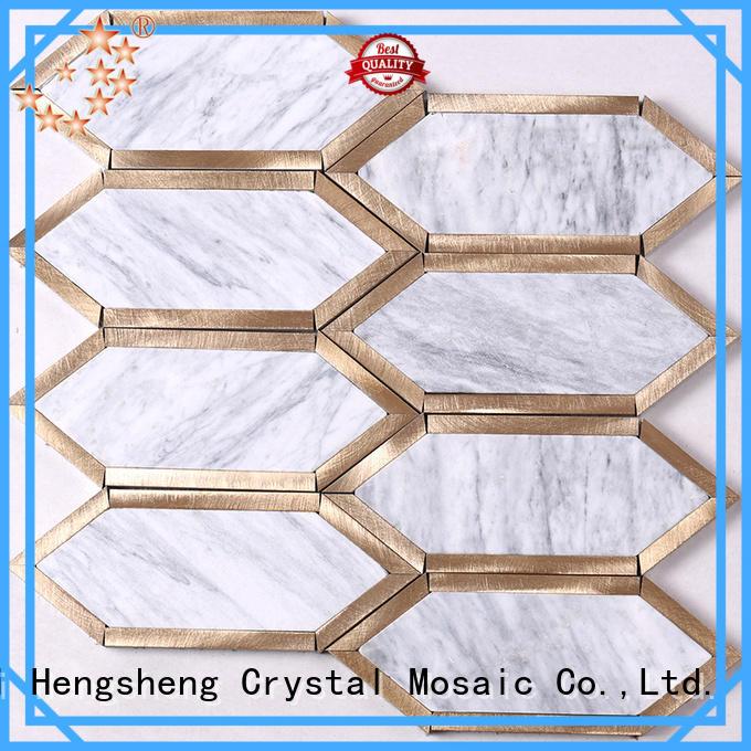 Heng Xing marble carrara marble mosaic tile Carrara for hotel