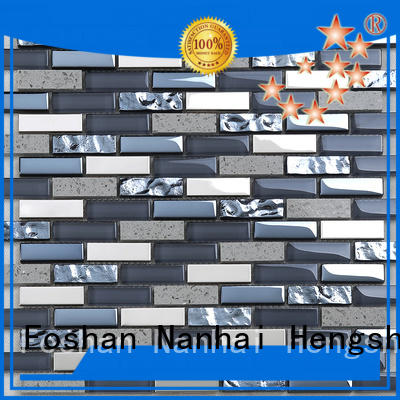 hmb23 red glass tile wholesale for living room Heng Xing