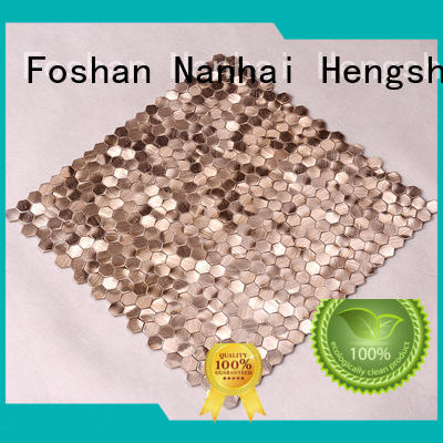 Hengsheng Brand steel decoration metal mosaic metal factory