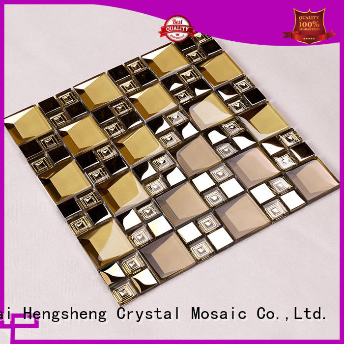 beveled glass mosaic tile iridescent home Hengsheng company