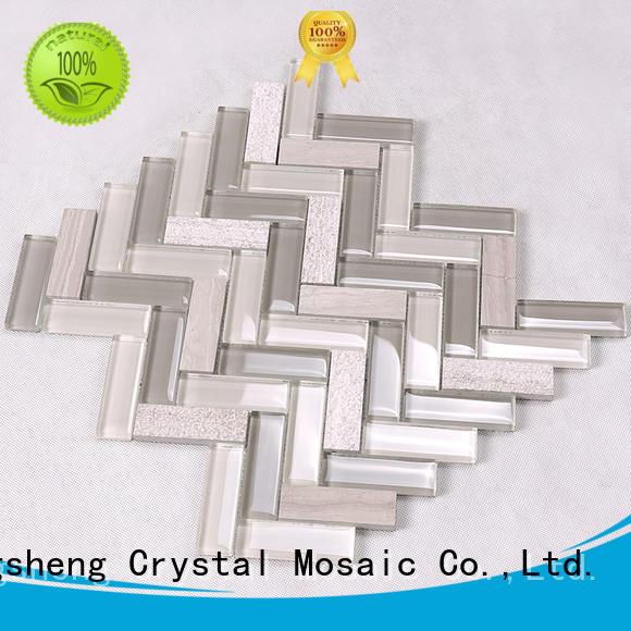 Heng Xing square glass subway tile backsplash manufacturer for kitchen