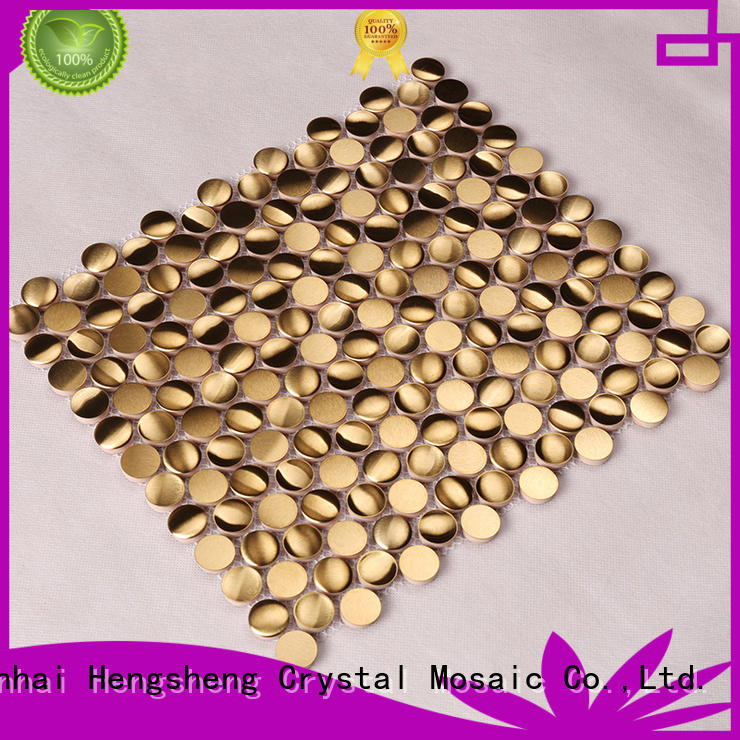Heng Xing luxury metal mosaics wall tiles design for living room