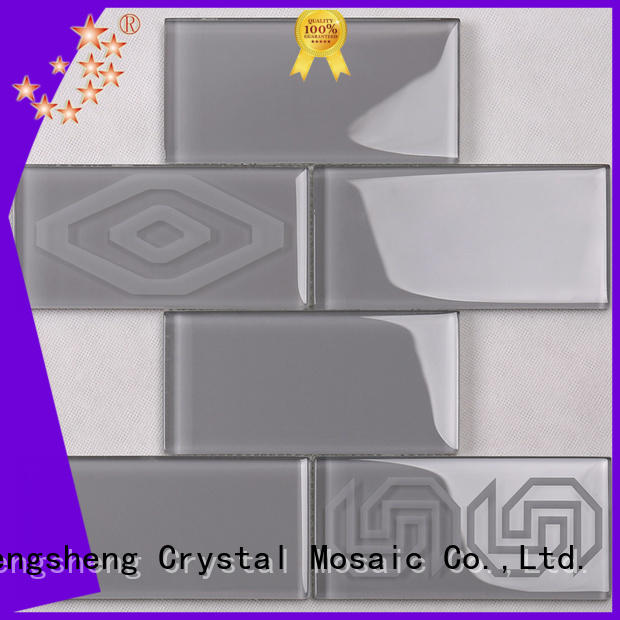 3x4 marble glass mosaic tile yms09 factory price for villa