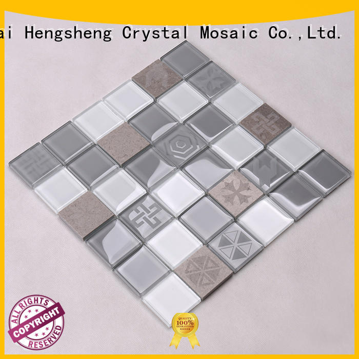 glass wall tiles resin for villa Heng Xing
