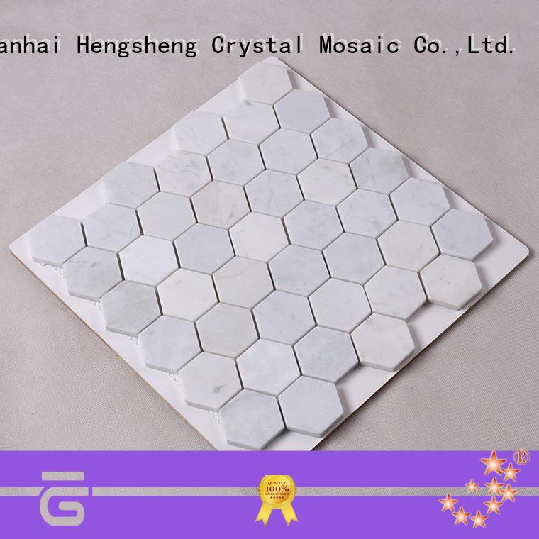3x3 natural stone mosaic tiles factory for villa Heng Xing