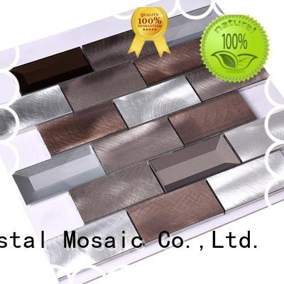 bedroom Custom backsplash metal metal mosaic Hengsheng round