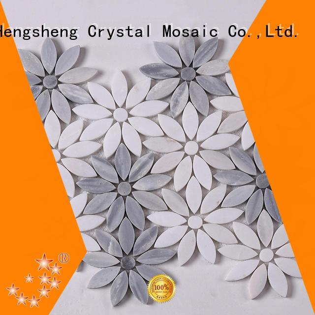 Heng Xing golden stone mosaic wall tiles Carrara for bathroom