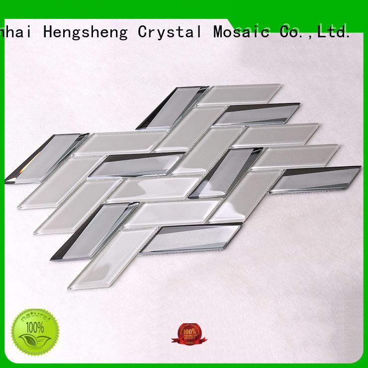 light super 3x3 glass mosaic tile Hengsheng