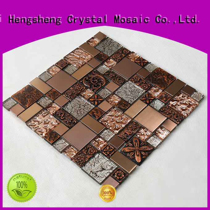herringbone spray Hengsheng Brand glass mosaic tile