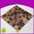 Quality Hengsheng Brand grey beige glass mosaic tile