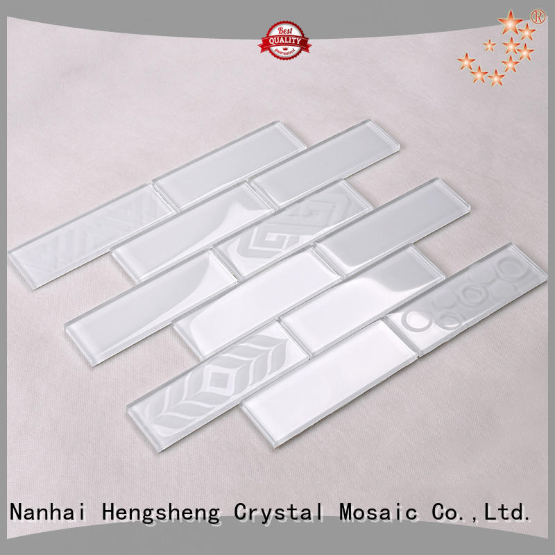 iridescent stone glass tiles for kitchen Hengsheng Brand