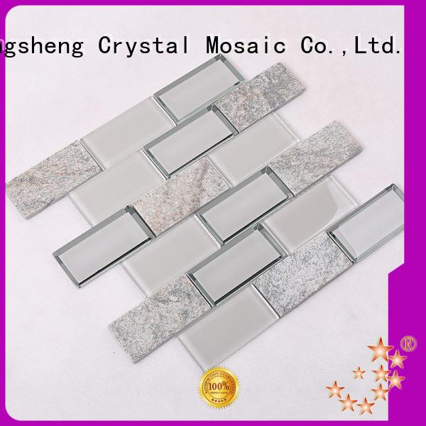 home metal glass mosaic tile 3x4 Heng Xing company