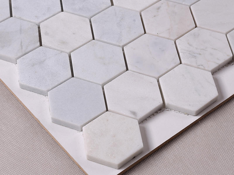 Heng Xing-Find Stone Tile 2x2 White Hexagon Carrara Stone Mosaic Tile Hsc24 | -1