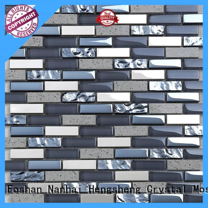 Heng Xing resin glass metal tile wholesale for villa