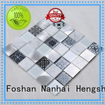 glass tiles for kitchen tile decor glass mosaic tile Hengsheng Brand